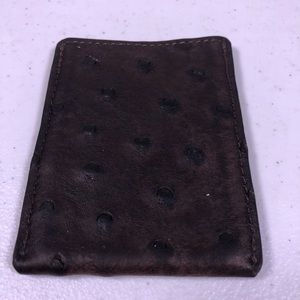 Other - Ostrich Leather Card Holder Wallet